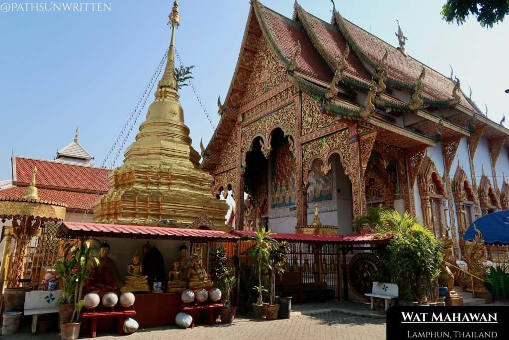 Wat Mahawan sites just outside Lamphun's western gate.