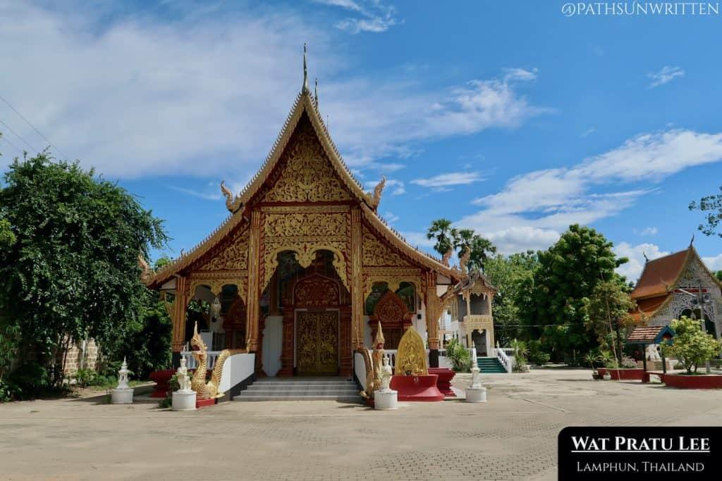 The modern viharn of Wat Pratu Lee.