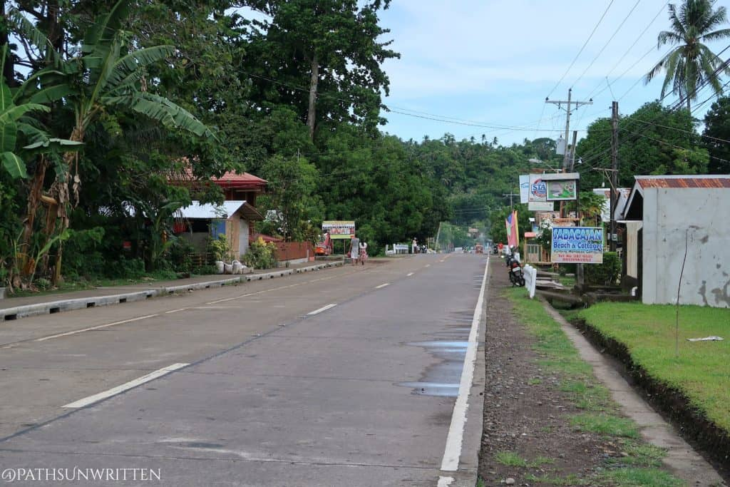 The Camiguin Circumferential Road, the main road around the island..