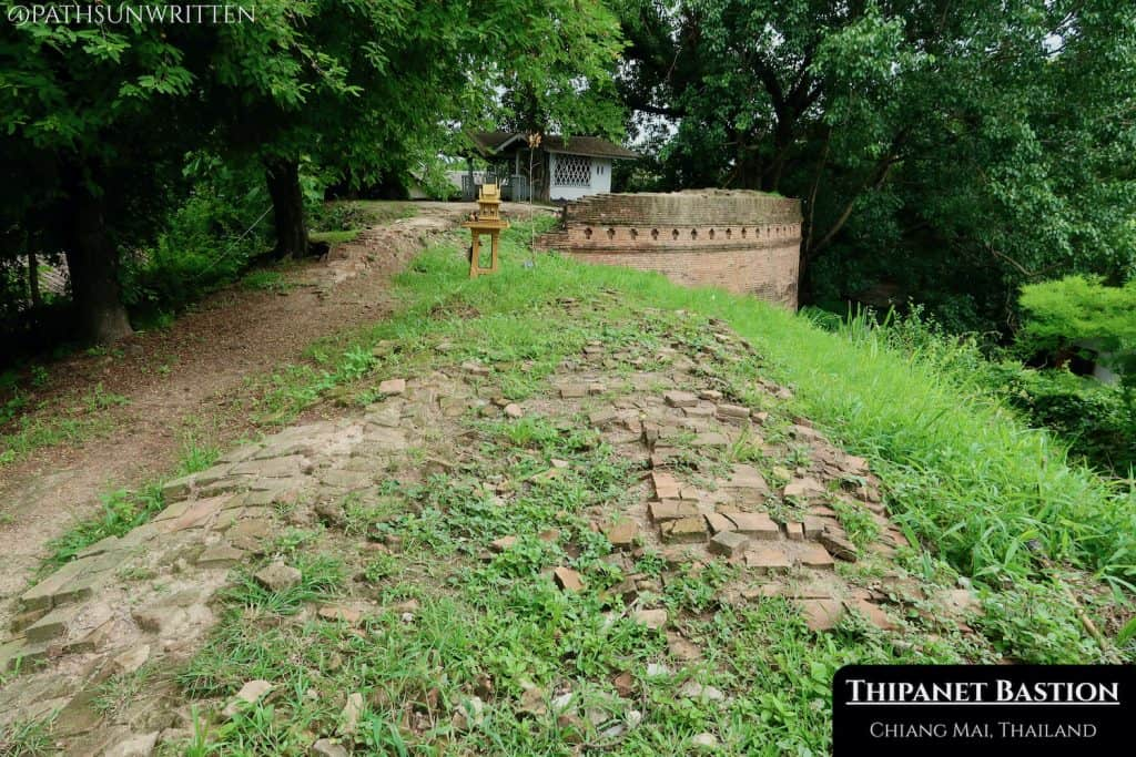 The Thipanet Bastion is hidden among the homes of Chiang Mai's Haiya neighborhood.