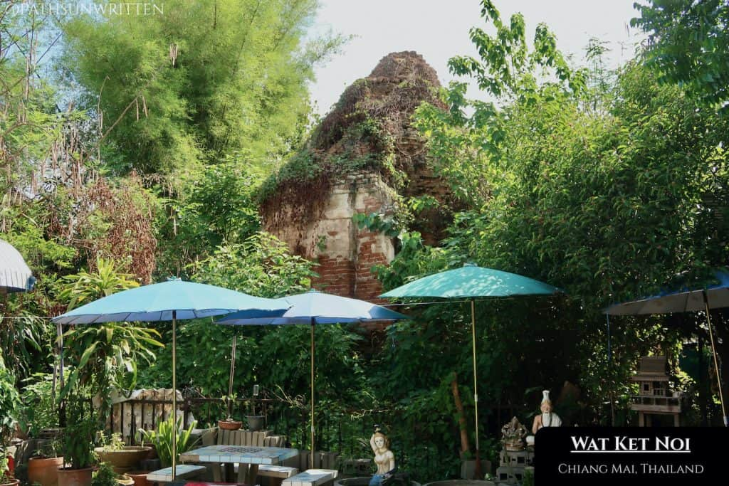The Wat Ket Noi stupa is alone on the Ping River's east bank.