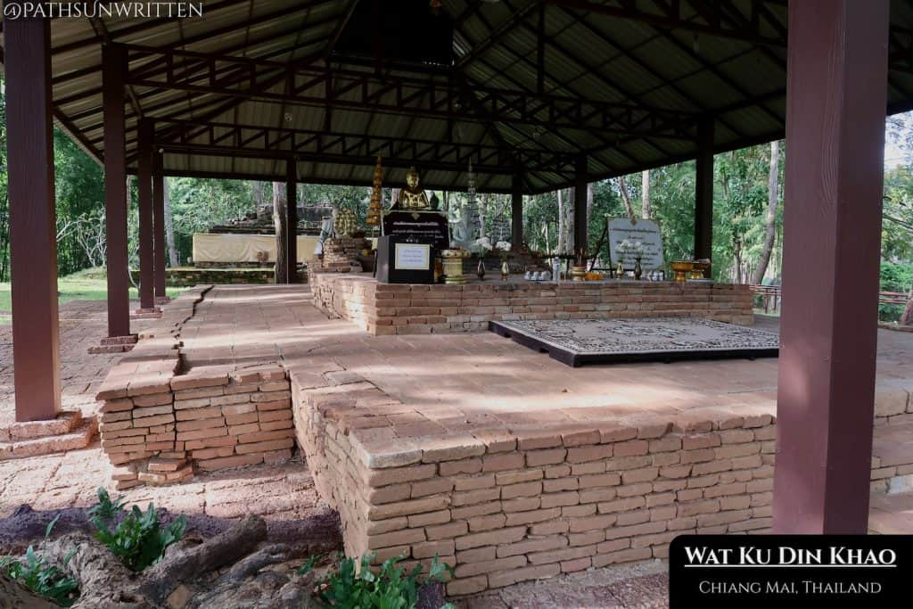Restored section of the Lanna-era viharn of Wat Ku Din Khao.