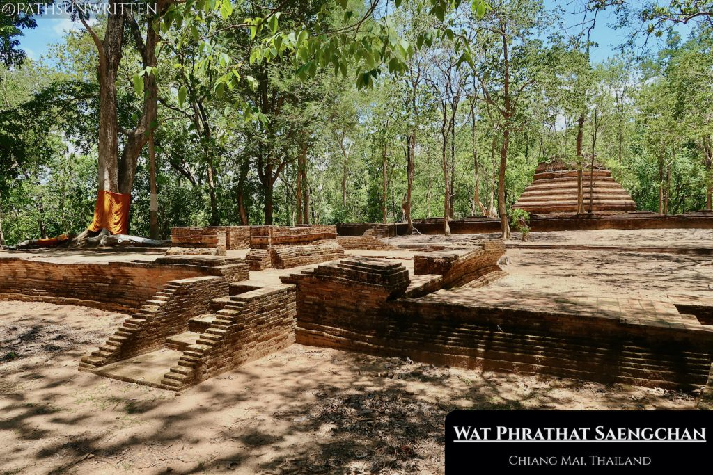 Wat Phrathat Saengchan is in the forested foothills of Doi Suthep mountain.
