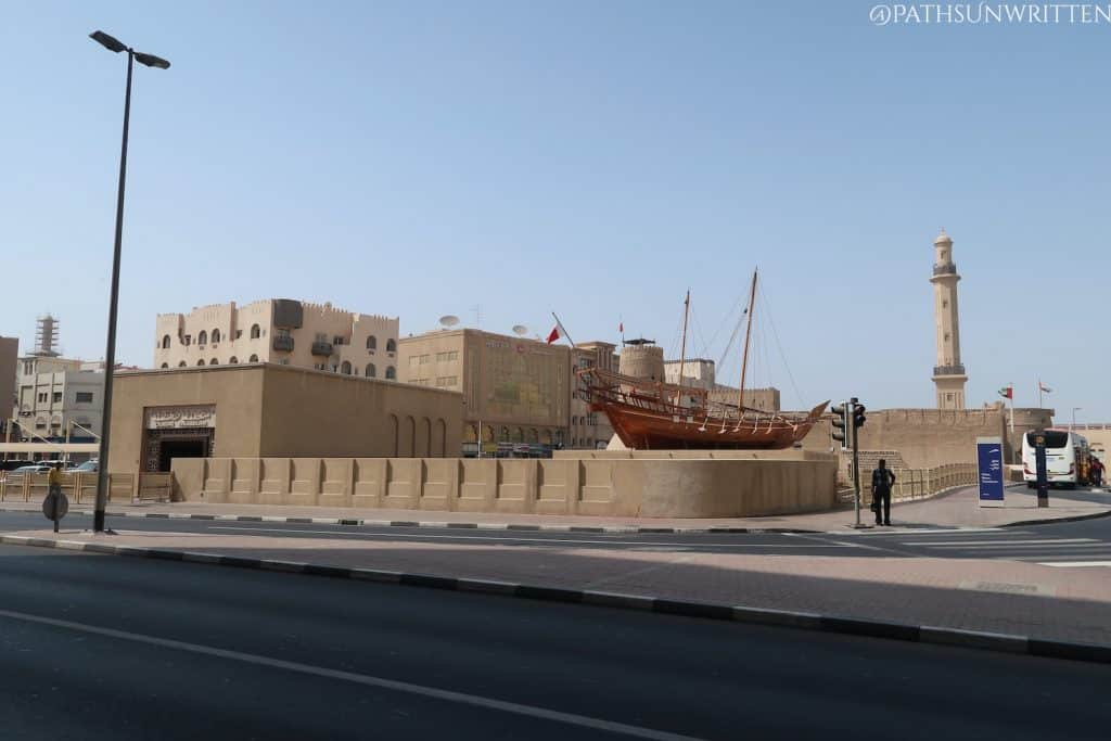 Old Dubai Fort and the Dubai Museum