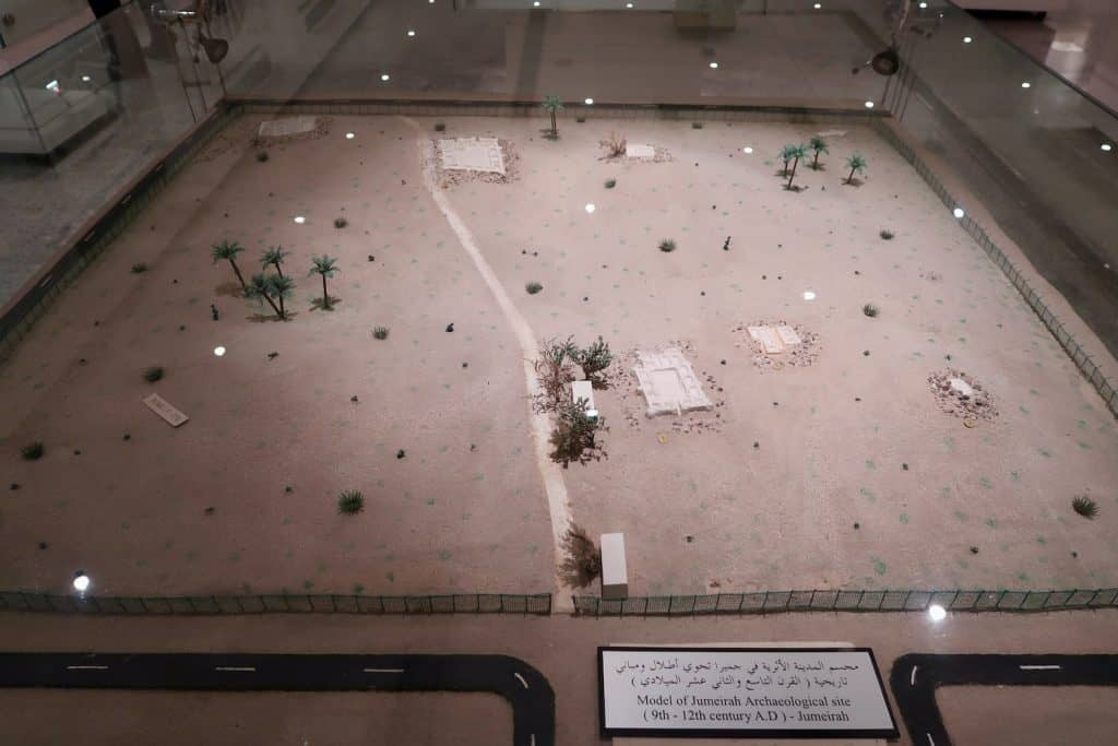 Model of the Jumeirah Archaeological Site at the Dubai Museum.