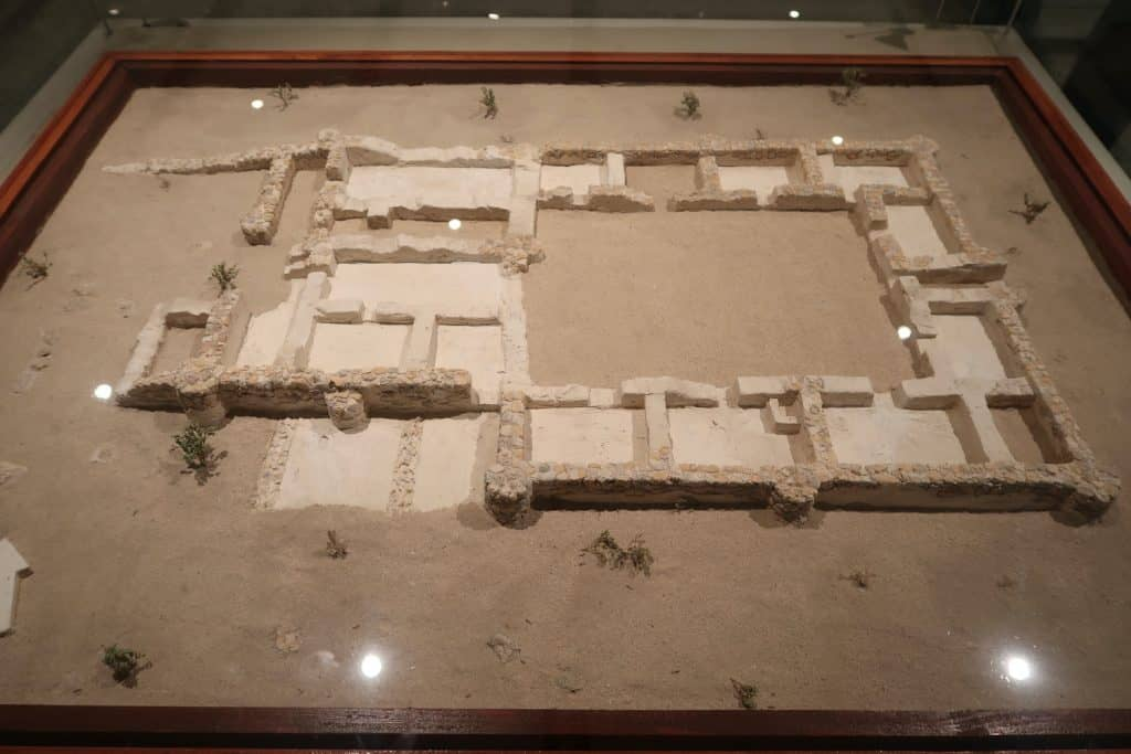 Model of the ruler's house in the Dubai Museum.