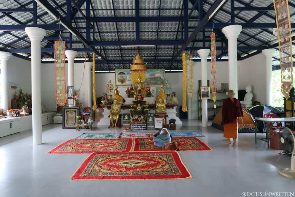 Inside the main worship hall (viharn) of Wat Luang Nong Ngu
