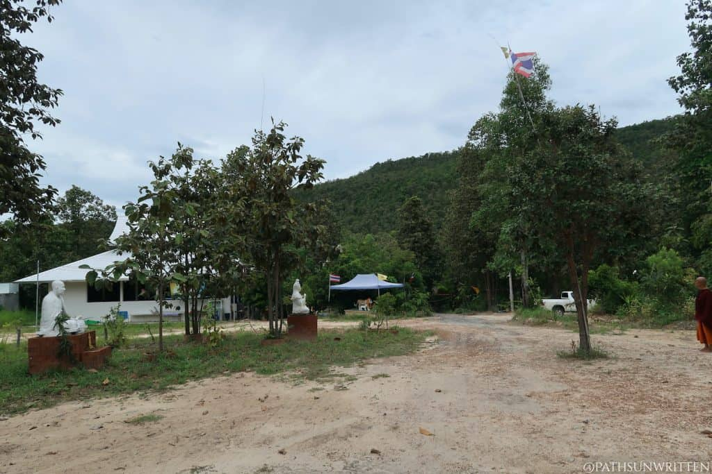 The Wat Luang Nong Ngu cleared main temple grounds