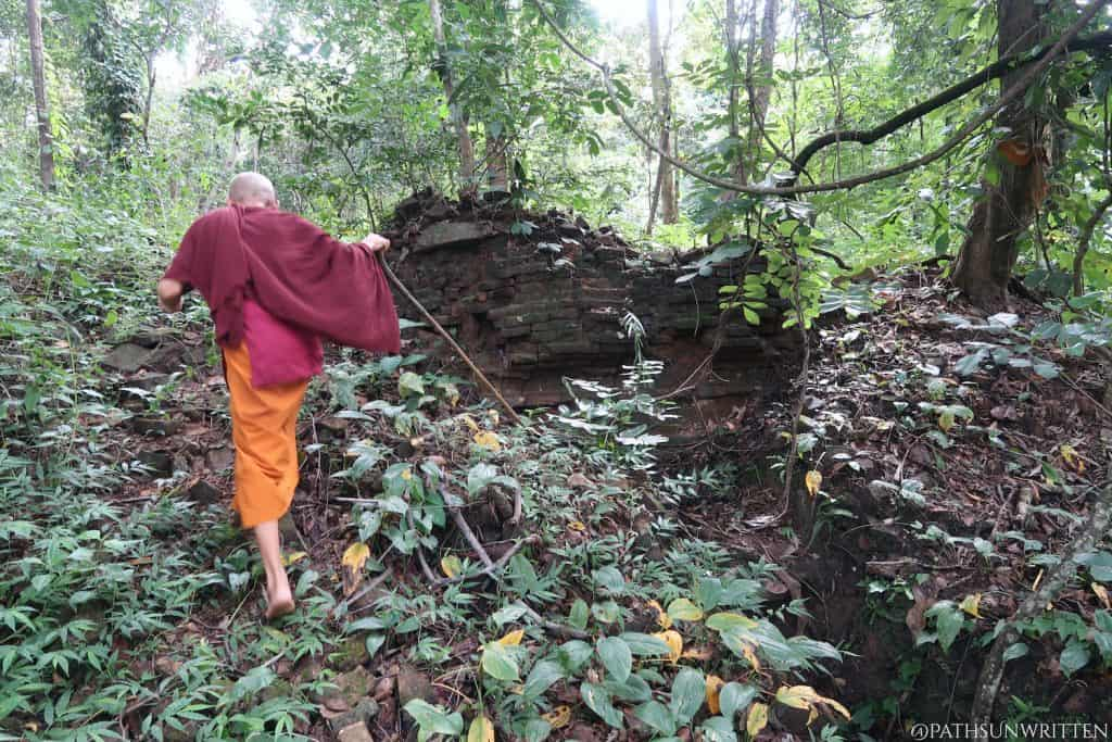 Leading us to the core of a ruined stupa