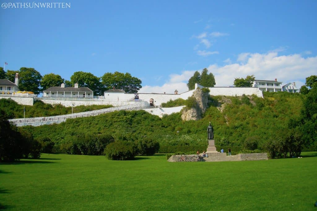 Fort Mackinac dominate the entire port town of Mackinac Island.