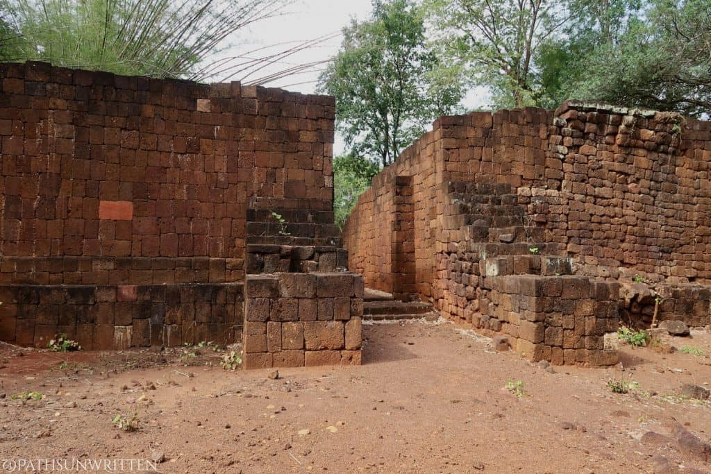 The laterite walls and gates of the Khmer city Muang Sing are much more formidable than those at the Ayutthaya Kingdom's Kanchanaburi settlement.