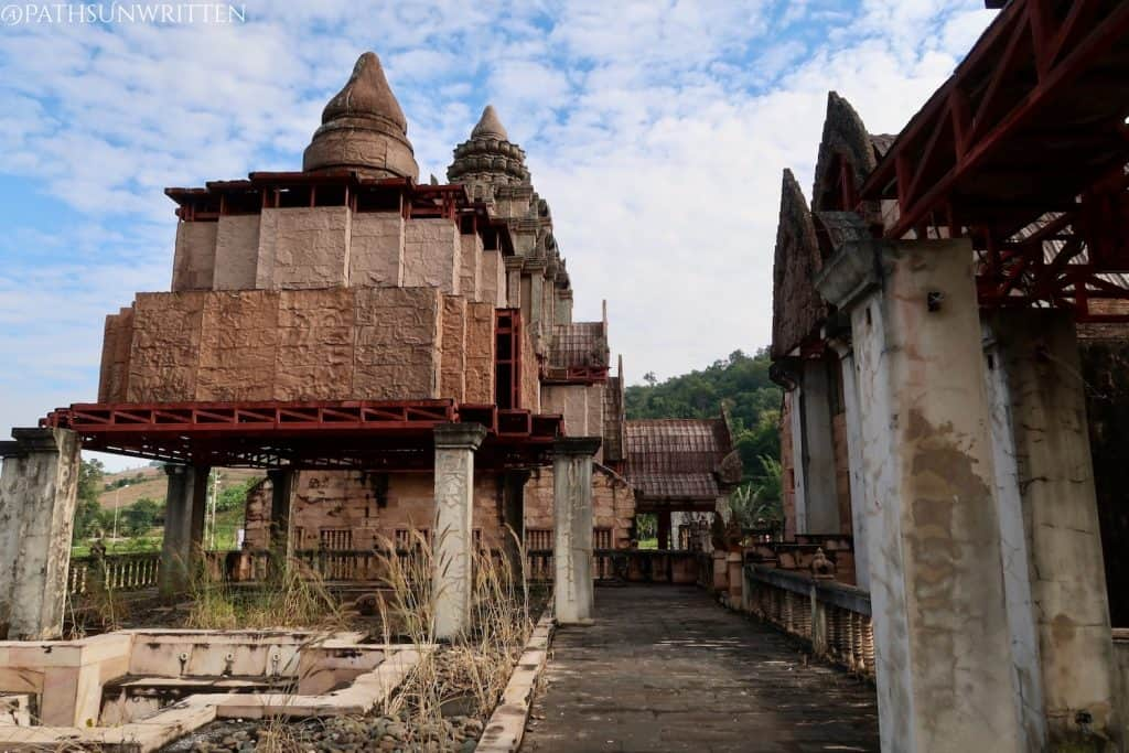 These towers appear more similar to Thai stupas than Khmer prangs