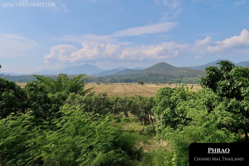 A mountain view in every direction in Phrao