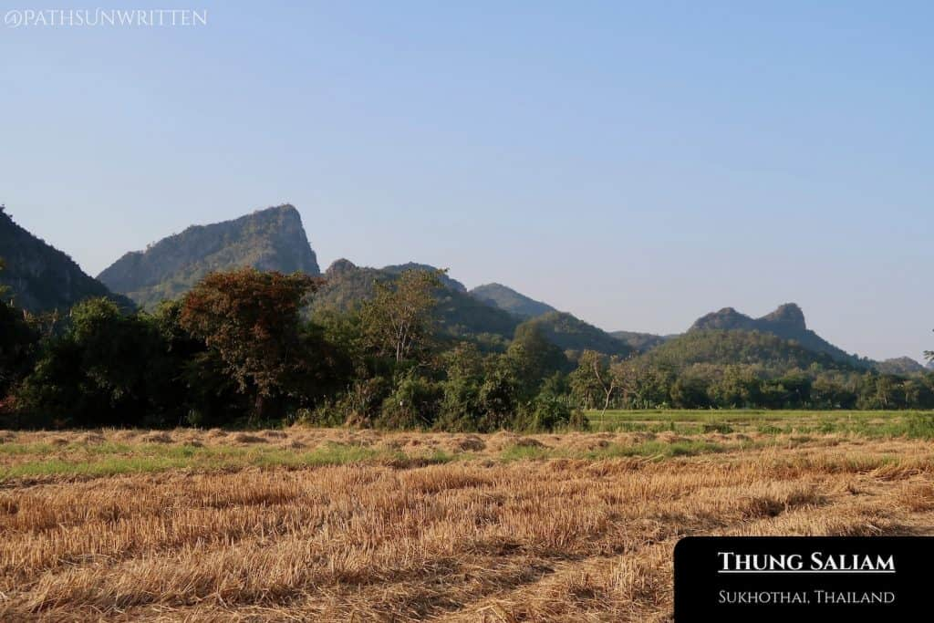 Karst mountains on the Lampang-Sukhtothai border