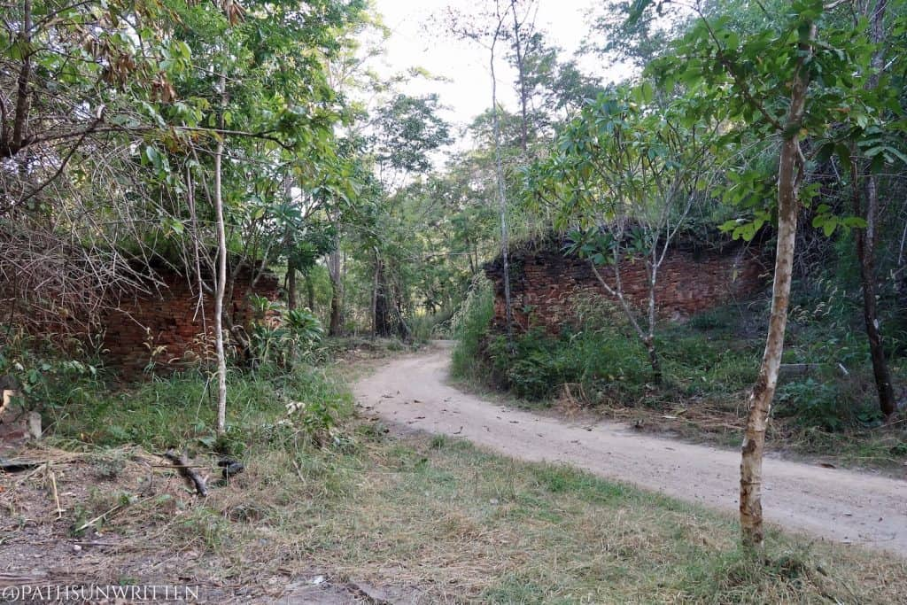 The Lanna-Sukhothai Border Wall from the southern side.