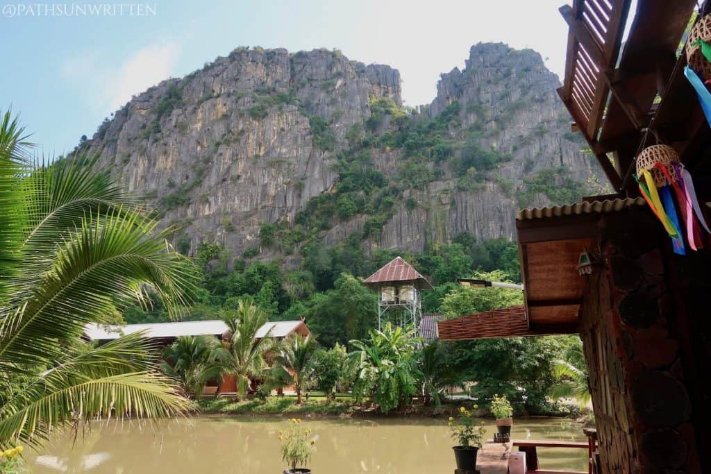 The scenic karst mountains of Thung Saliam