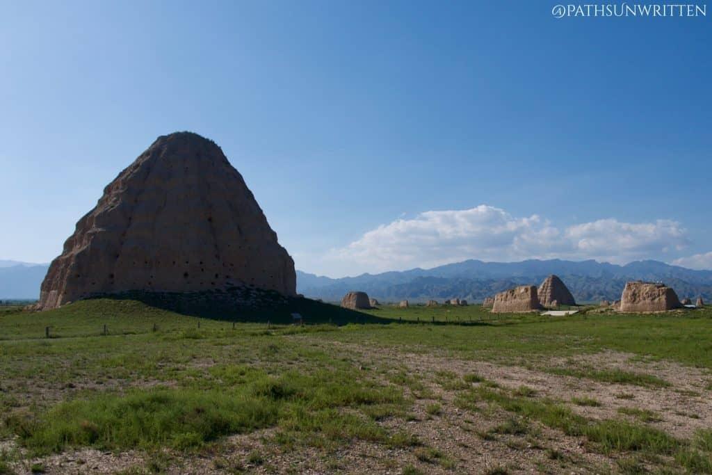 The Tanggut Xi Xia Tombs are located near Yinchuan in Ningxia Province