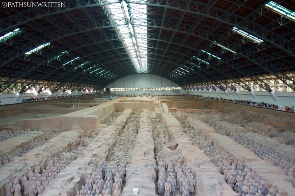 The Qin Shi Huang tomb was protected by the famous Terracotta Army