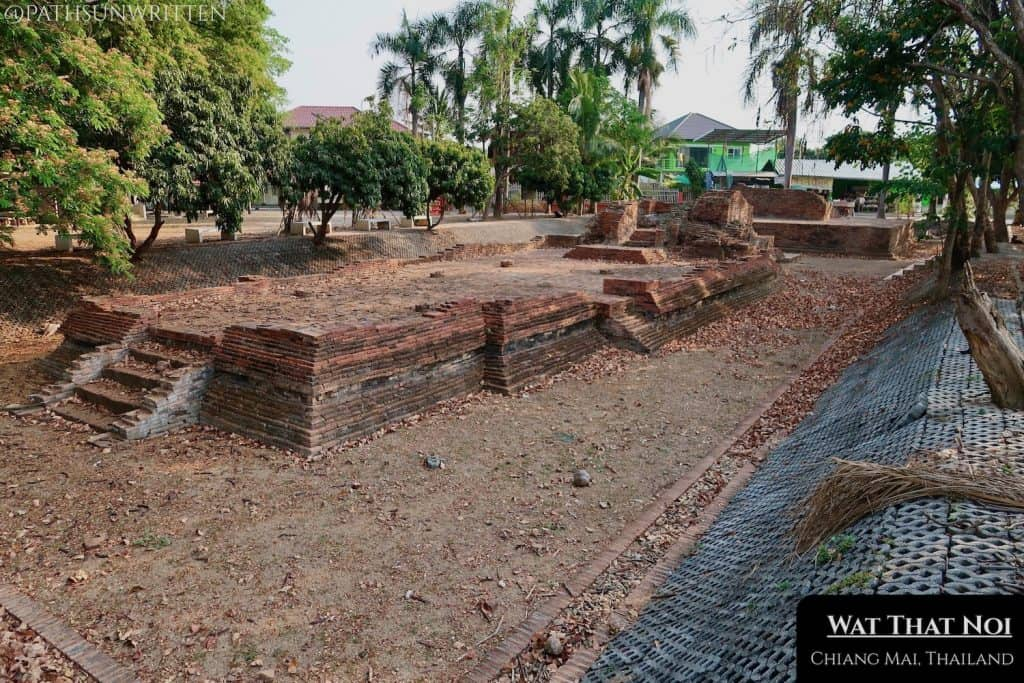 Wat That Noi was among the first excavated temples in Wiang Kum Kam