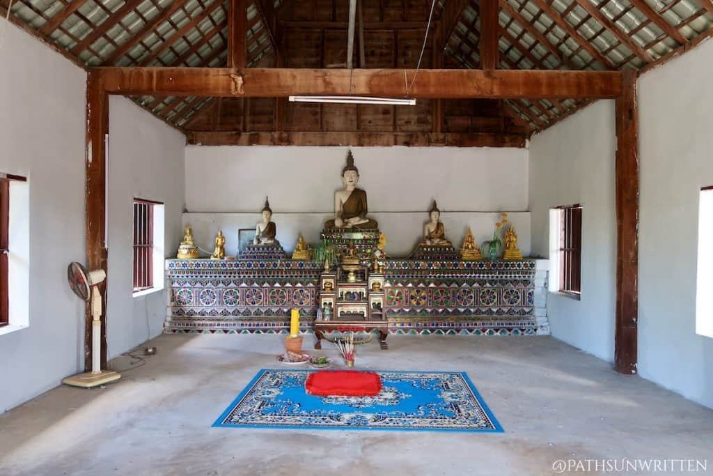 Inside the traditional viharn at Wiang Mano