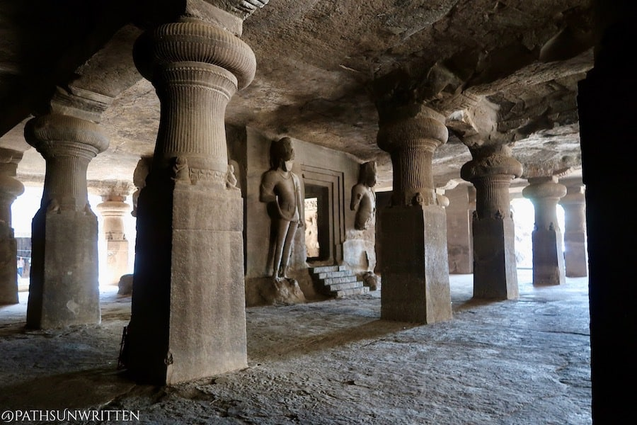 This central shrine in the Elephanta Caves contains a Shiva-lingam