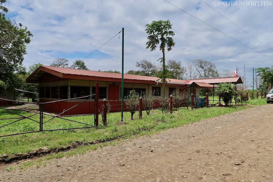 The Las Huacas School located near the Cutris Archaeological Monument