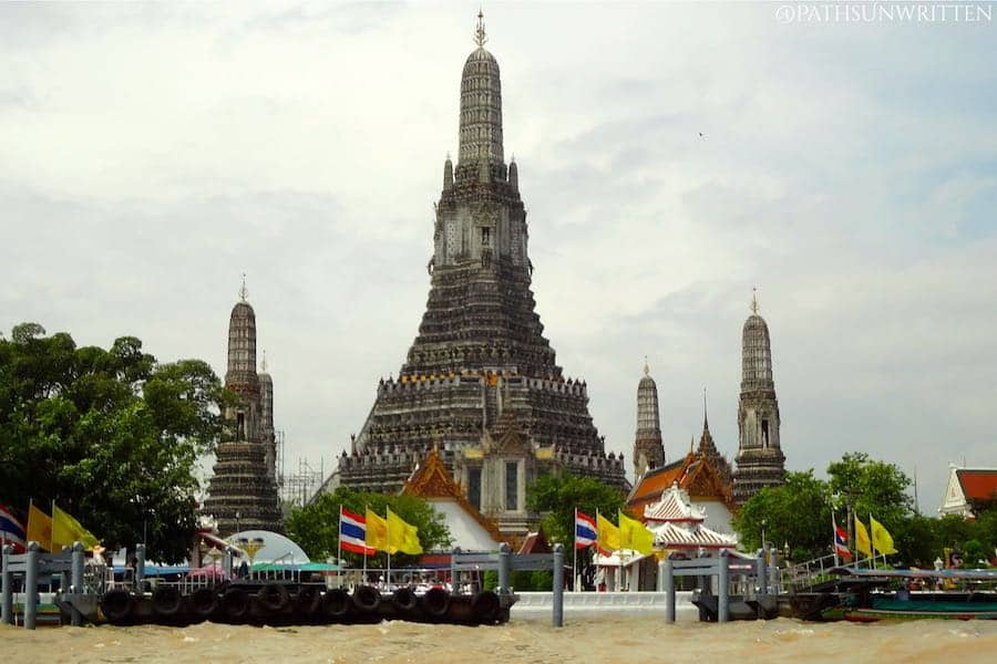 Wat Arun in Bangkok is the most famous Thai-style prang